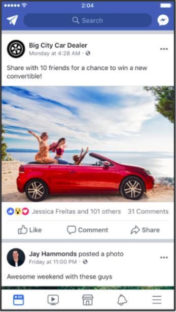 Engagement bait